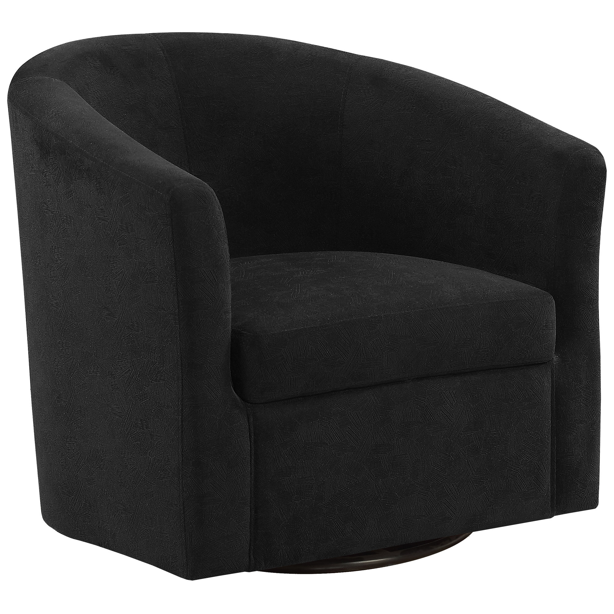 ACCENT CHAIR - SWIVEL / CIRCULAR FABRIC